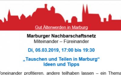 Tauschen und Teilen in Marburg